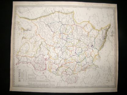 SDUK 1840 Antique Map. Russia in Europe. Part 10 | Albion Prints